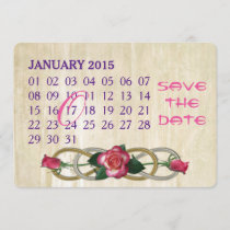 Double Infinity - Roses - Custom Calendar Save The Date
