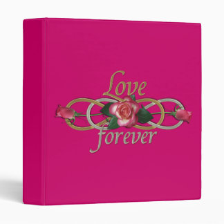 Double Infinity - Roses Love forever 3 Ring Binder