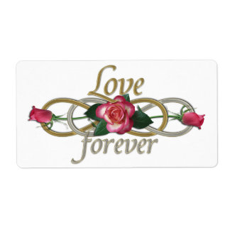 Double Infinity - Roses Love forever Personalized Shipping Label