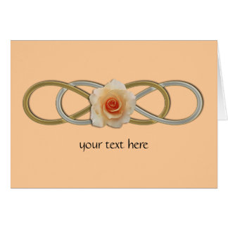 Double Infinity Silver Gold Rose Cards