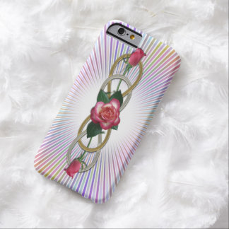 Double Infinity Silver Gold Roses + your backgr. Barely There iPhone 6 Case