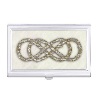Double Infinity Silver/Gold Vine -Bus. Card Holder