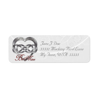 Double Infinity Silver Heart 1 - Address Label