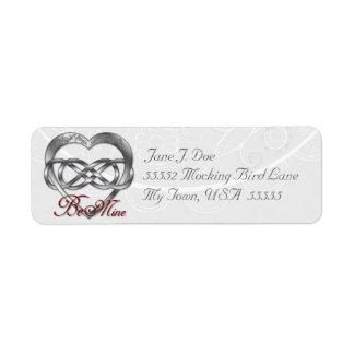 Double Infinity Silver Heart 1 - Address Label