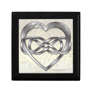 Double Infinity Silver Heart 2 - Gift Box