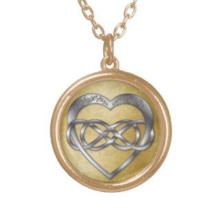 Double Infinity Silver Heart 3 - Necklace