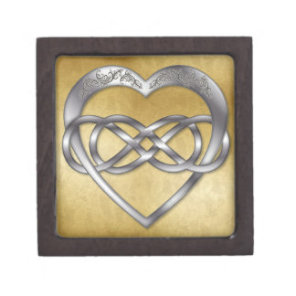 Double Infinity Silver Heart 5 - Gift Box
