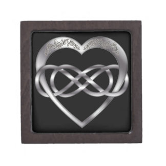 Double Infinity Silver Heart 6 - Gift Box