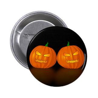 Double Jack O Lanterns Pinback Buttons
