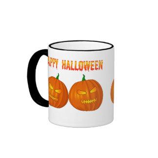 Double Jack O Lanterns Coffee Mug