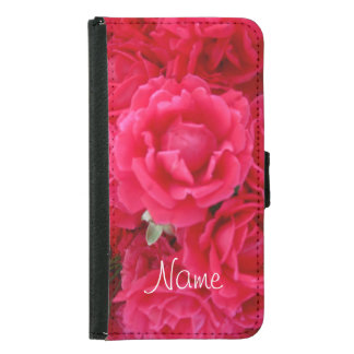 Double Knockout Roses-Galaxy s5 Wallet Case