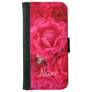 Double Knockout Roses-iPhone 6 Wallet Case
