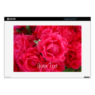 Double Knockout Roses-Vinyl Laptop Skin 15in