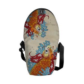 Double Koi Courier Bag