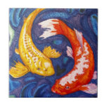 """Double Koi Fish Design Tile<br><div class=""""desc"""">Attract good luck with this double koi fish design!</div>"""