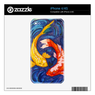 Double Koi Fish iPhone 4 Decal