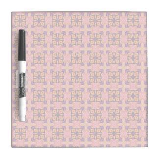 Double Lattice Bubble Cross Diamond Abstract Quilt Dry Erase Board