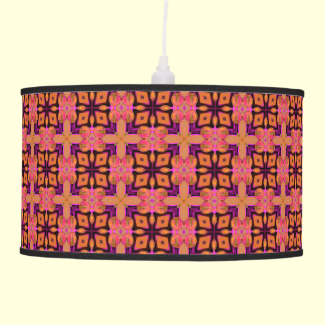 Double Lattice Bubble Cross Diamond Abstract Quilt Hanging Lamp