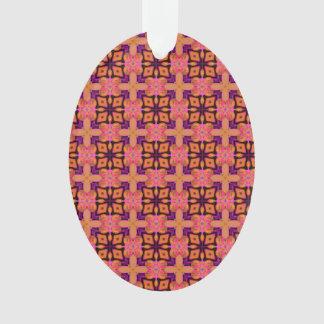 Double Lattice Bubble Cross Diamond Abstract Quilt Ornament