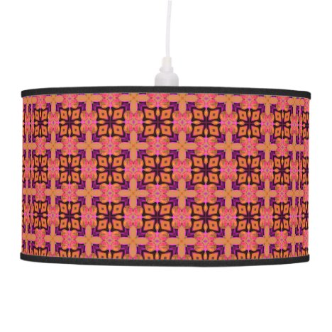 Double Lattice Bubble Cross Diamond Abstract Quilt Pendant Lamp