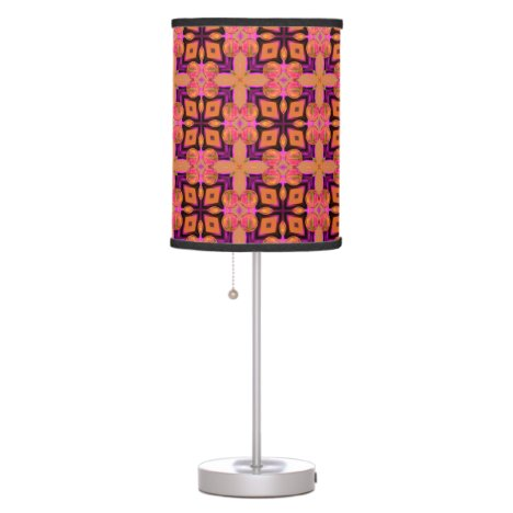 Double Lattice Bubble Cross Diamond Abstract Quilt Table Lamp