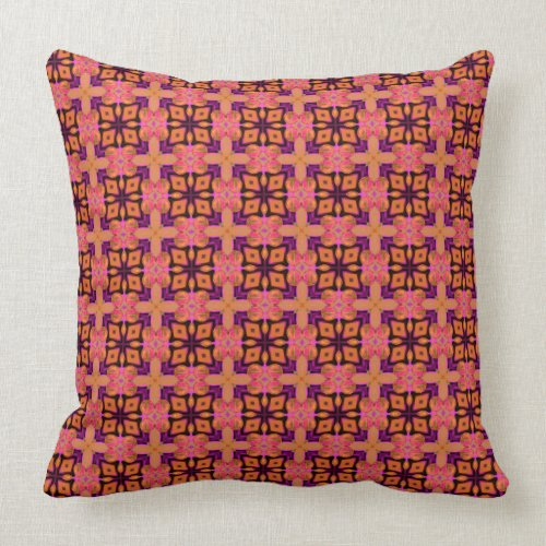 Double Lattice Bubble Cross Diamond Abstract Quilt Throw Pillow