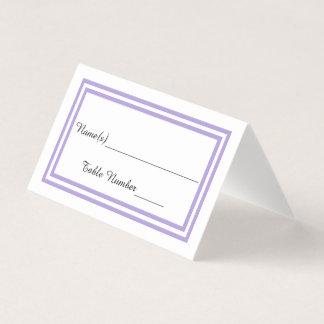 Double Lavender Trim - Escort Card