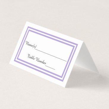 Wedding Themed Double Lavender Trim - Escort Card