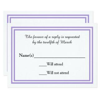 Double Lavender Trim - RSVP Card