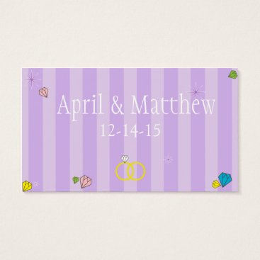 Professional Business Double Lilac Stripes Business Card