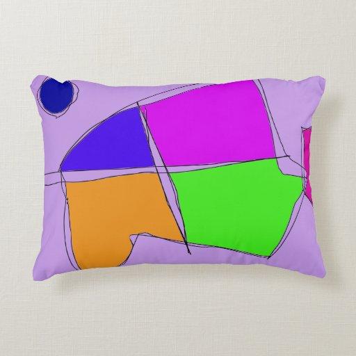Double Lines Light Purple Decorative Pillow Zazzle