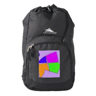 Double Lines Light Purple High Sierra Backpack