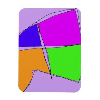 Double Lines Light Purple Magnet