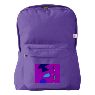 Double Lines Purple American Apparel™ Backpack