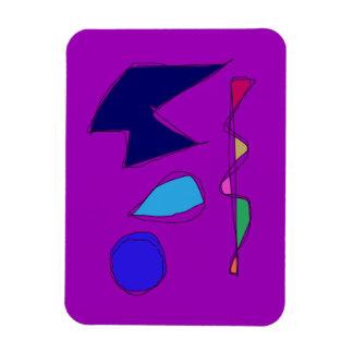 Double Lines Purple Magnet