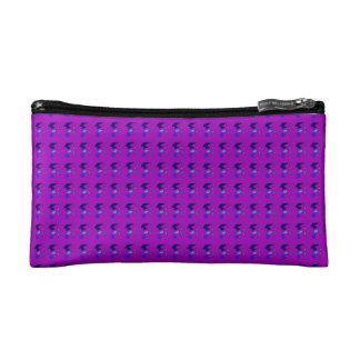 Double Lines Purple Makeup Bag