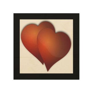 DOUBLE LOVE WOOD PRINT