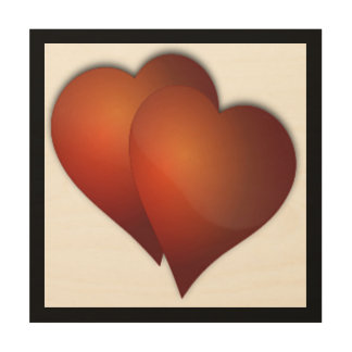 DOUBLE LOVE WOOD WALL ART