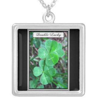 Double Lucky - four-leaf clover Necklace