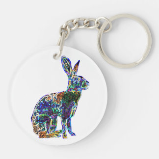 Double Lucky Hare | feng shui keychain