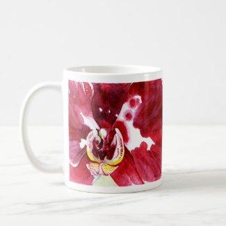 Double Magenta Phalaenopsis Orchid Mug