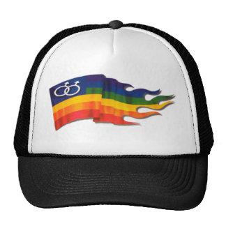 Double Male Pride Flag Trucker Hat