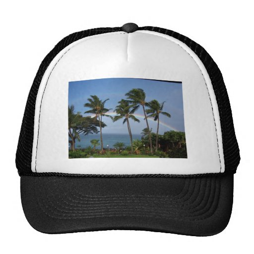 Double Maui Rainbow Trucker Hat