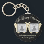 """Double Memorial add Photos Keepsake Keychain<br><div class=""""desc"""">A double memorial photo key chain for two people.  Grandparents,  parents,  or ?  Makes a sweet remembrance gift.</div>"""
