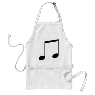 Double Music Note Apron