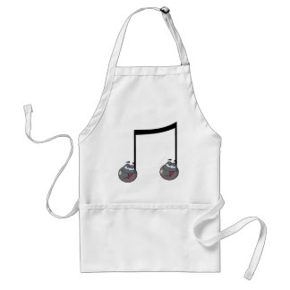 Double Music Notes Aprons