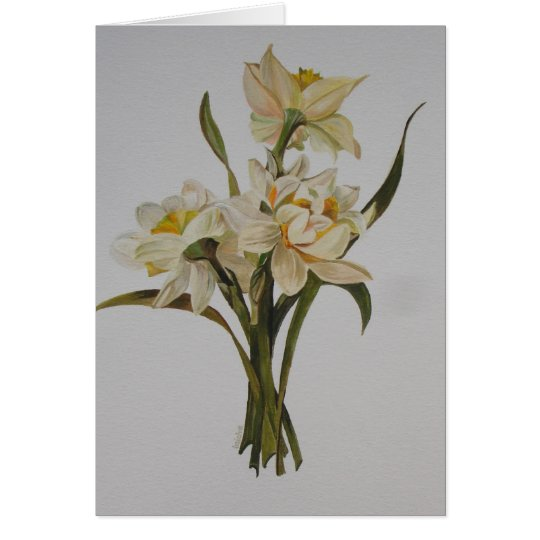 Double Narcissi Card