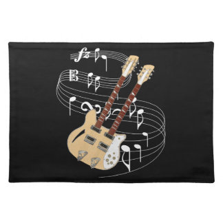 Double Neck Guitar Cloth Placemat
