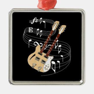 Double Neck Guitar Metal Ornament