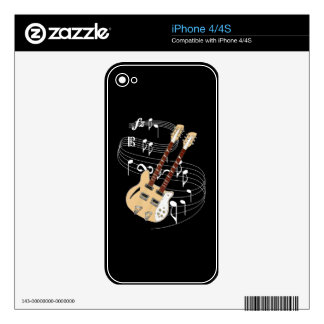 Double Neck Guitar Skin For iPhone 4S